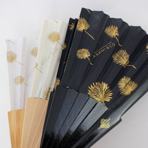 Hand fan Élise black