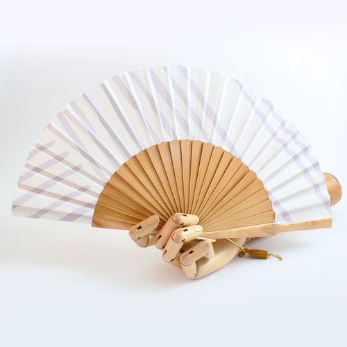 Mini hand fan Petit Buren grey