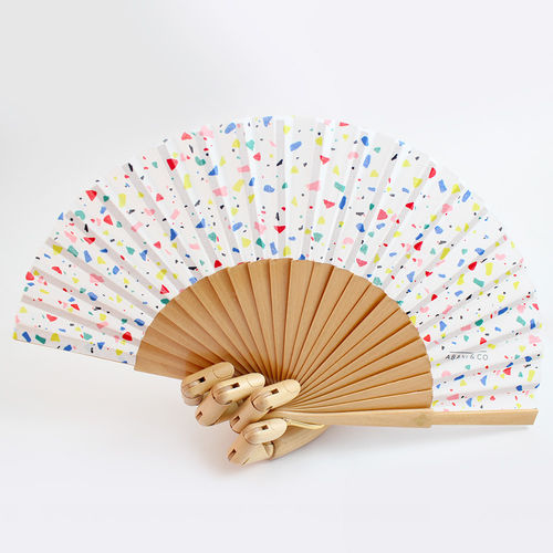 Mini hand fan Missgrey wood
