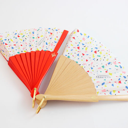 Mini hand fan Missgrey red
