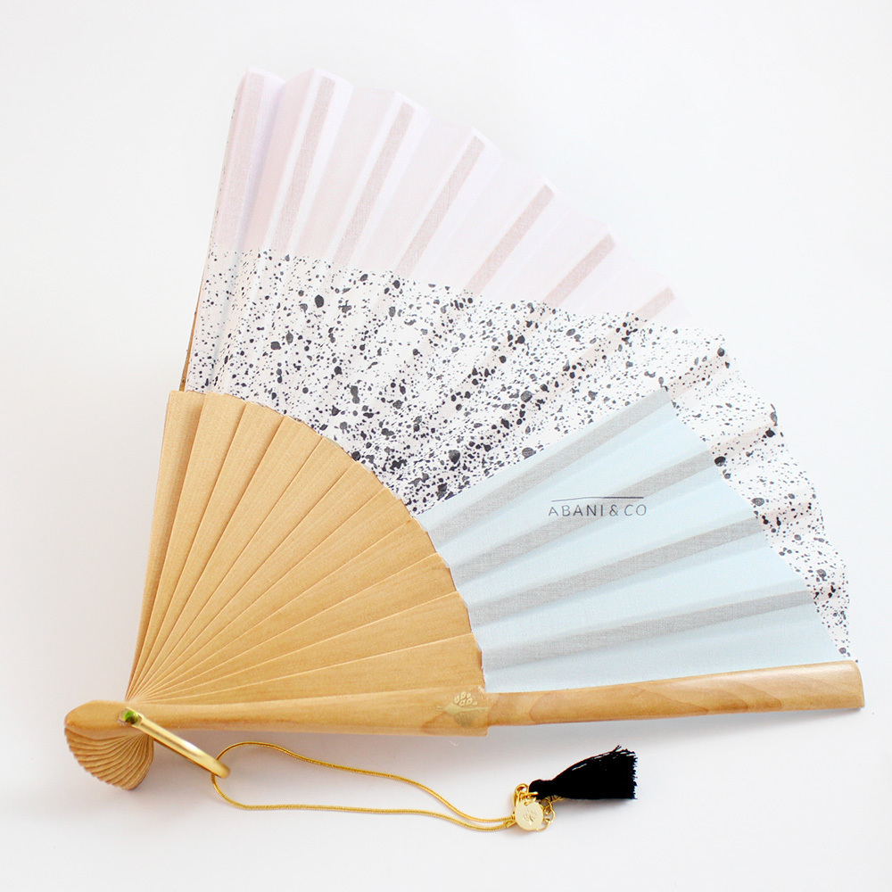 Hand fan Sweet Bauhaus