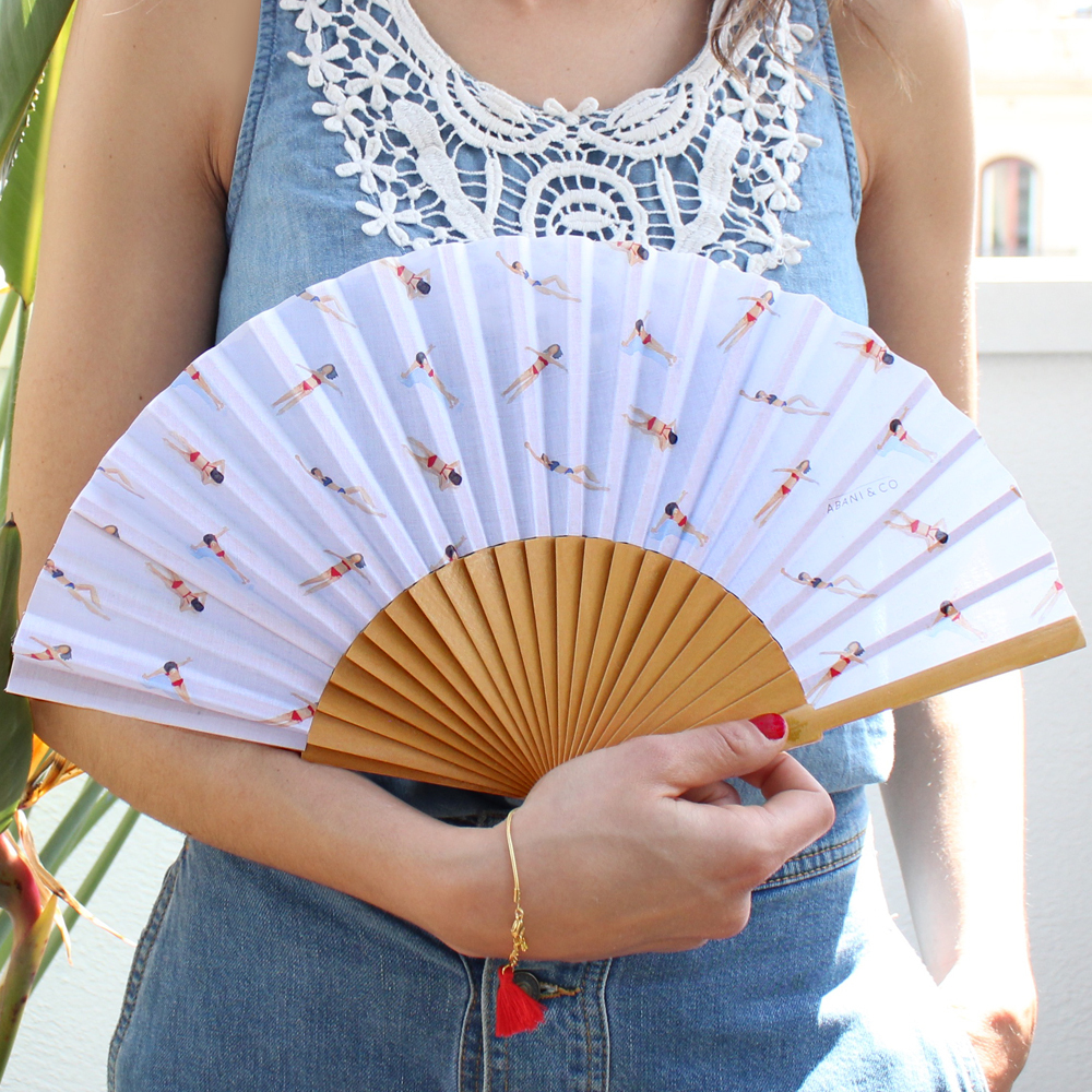 Hand fan Swimmers natural