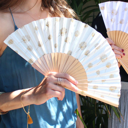 Hand fan Élise cream