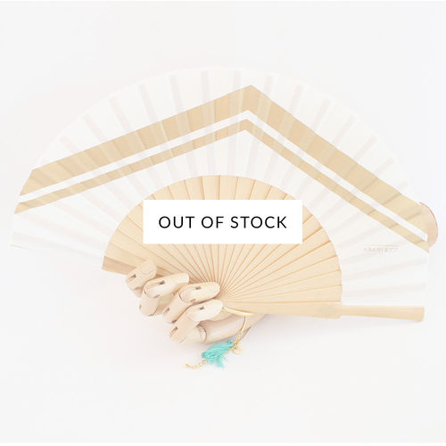 Mini hand fan Graphique cream