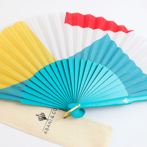 Hand fan Bauhaus pop